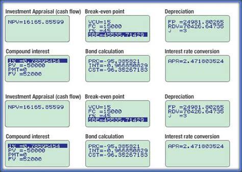 Casio Financial Calculator Fc 200v personal financial calculators for financial investment