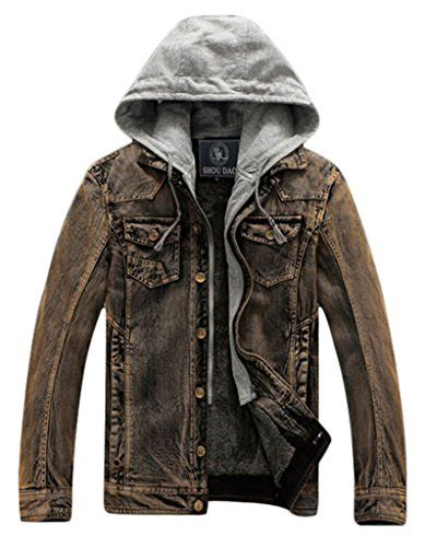 Denim Jacket Cloudy cloudy arch s fashion hooded sleeve washed casual