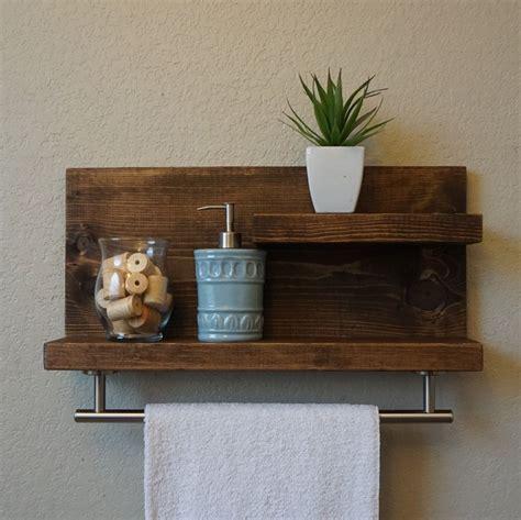 modern bathroom shelves modern rustic 2 tier bathroom shelf with 18 satin by
