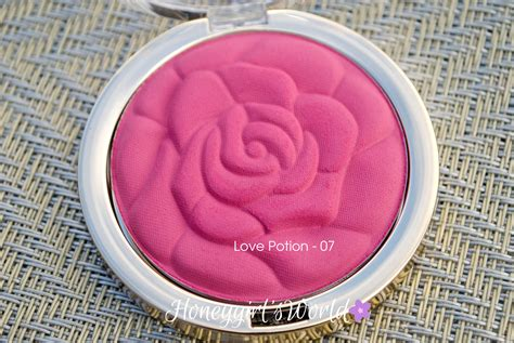 Milani Powder Blush Potion 07 potion milani powder blush matte a lavender cool toned pink that has violet