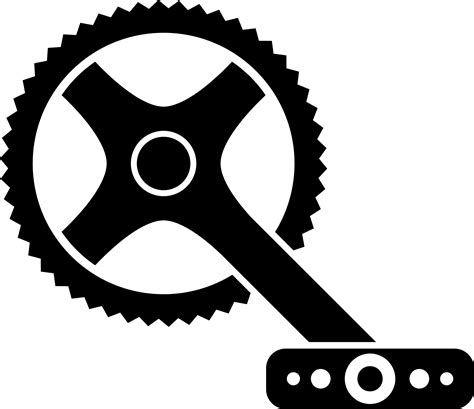 Clip Sepeda Bmx Black clipart bicycle crank
