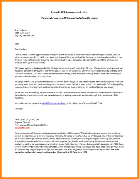 Letter Introduction Sle Letter Of Introduction Sle Best Photos Of Business