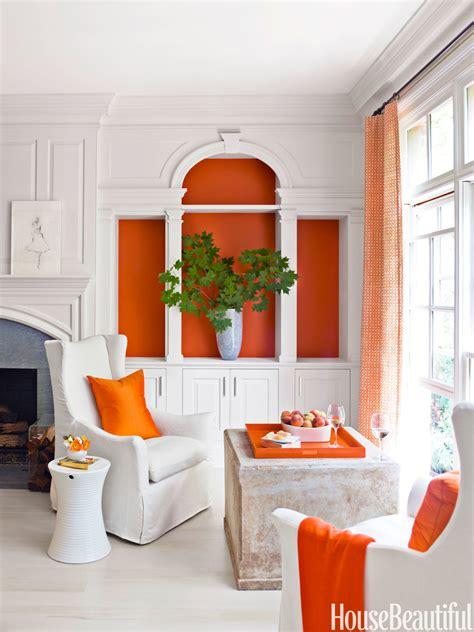 orange bookcase house beautiful pinterest favorite pins
