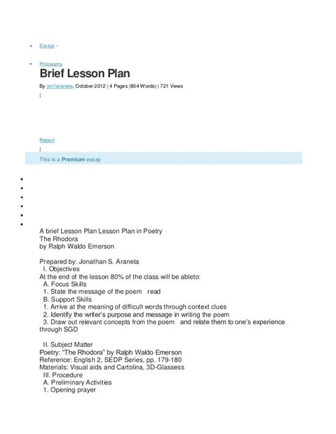 design brief lesson plan brief lesson plan