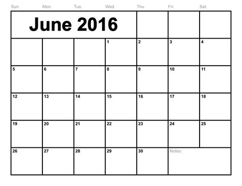 printable month calendar june 2016 june 2016 calendar printable template 8 templates