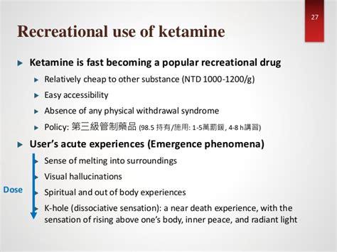 Ketamine For Rapid Detox by Ketamine Induced Cystopathy