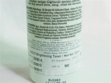Brightening Toner Jafra jafra brightening toner review fashion
