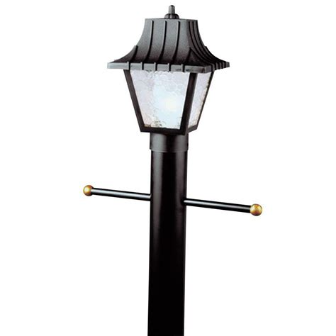 Westinghouse Outdoor Lighting Westinghouse 1 Light Black Hi Impact Polycarbonate Post Top Exterior Lantern With Clear Textured