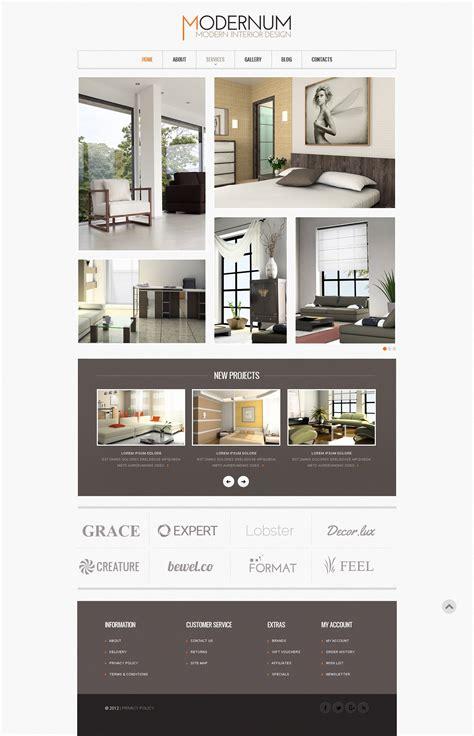 Interior Design Website Template 41187 Interior Design Website Templates