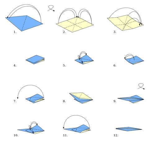 How To Make Origami Bird Base - file origami bird base svg wikimedia commons