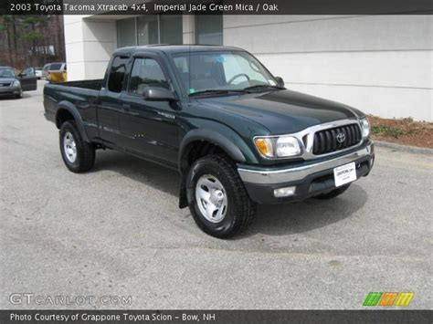 2003 Toyota Tacoma Xtracab Imperial Jade Green Mica 2003 Toyota Tacoma Xtracab 4x4