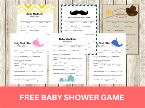 baby shower games templates free download free printable baby shower mad libs game baby advice game