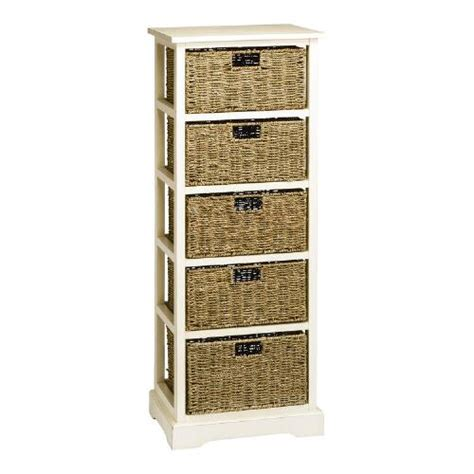 white aspen 5 basket storage cabinet tree