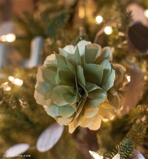 gold pom pom christmas tree ornament allfreepapercrafts com