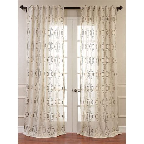 embroidered linen curtains exclusive fabrics suez embroidered faux linen sheer