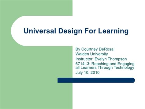 universal design for learning powerpoint universal design for learning