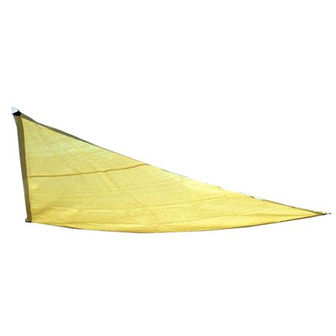 king canopy 10 ft w x 10 ft d yellow triangle sun shade