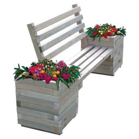 Planter Des Pensées En Jardiniere by Doublet Banc En Bois Avec 2 Jardini 232 Res De Fleurs