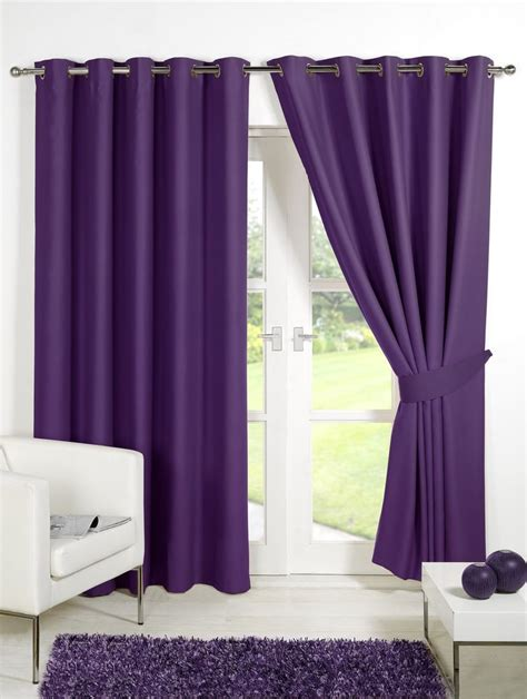 ebay purple curtains thermal blackout curtains purple plum 46 x 54 eyelet