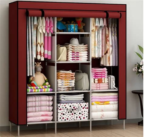 Cloth Wardrobe Closet New Portable Bedroom Furniture Clothes Wardrobe Closet