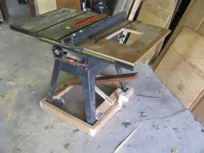 table saw mobile base diy version by joel wires