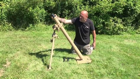 Mortar Diameter 8 Cm blank firing german wwii 8 cm grw 34 mortar