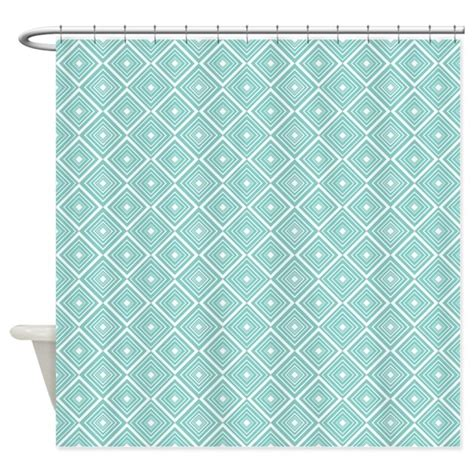 blue and white patterned curtains diamond pattern blue and white shower curtain by cutetoboot