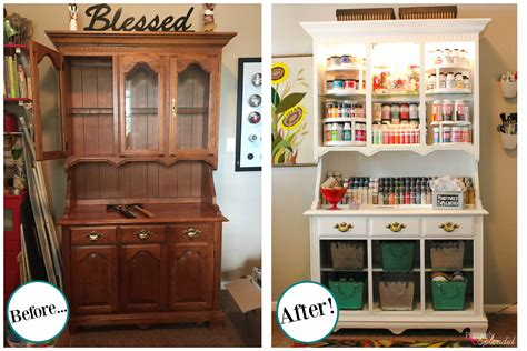craft storage cabinets with doors craft storage center from and old hutch