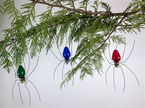 small lucky christmas spider christmas tree ornaments set