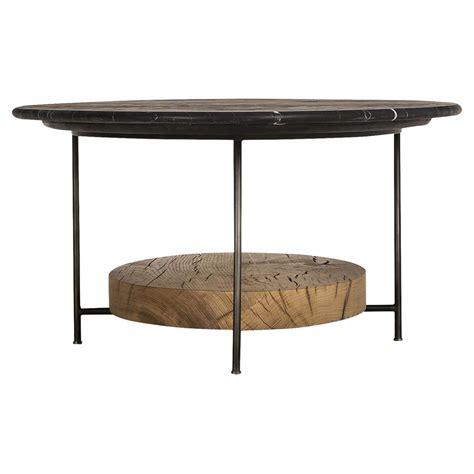 Oval Oak Coffee Table Tagg Lodge Black Marble Oval Oak Coffee Table Kathy Kuo Home