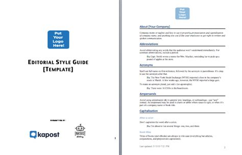 style guide template the simple template thorough content style guide rachael