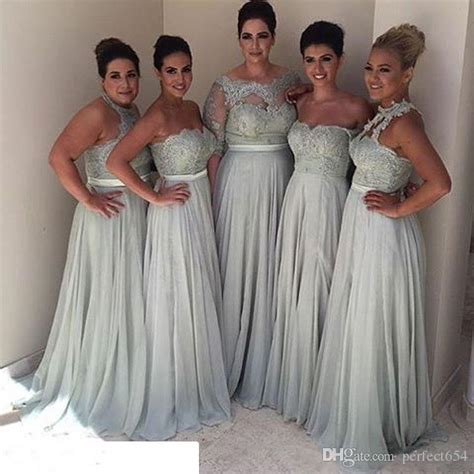 Bridesmaid Dresses For Different Sizes - bridesmaid dresses different styles 2017 plus size vintage