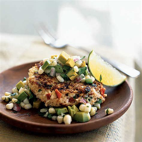 cooking light appetizers spicy shrimp cakes with corn and avocado salsa 100 ideas