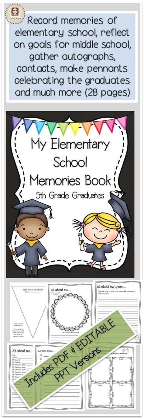 libro recurdos mios my memories my elementary memories memory book fifth grade graduates end of year graduaci 243 n