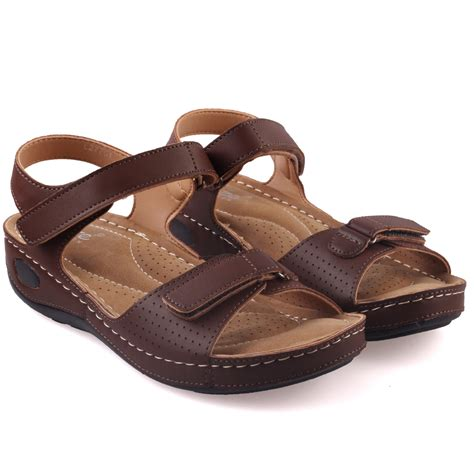 most comfortable walking sandals for women unze womens nuty comfortable walking sandals uk size 3 8 brown