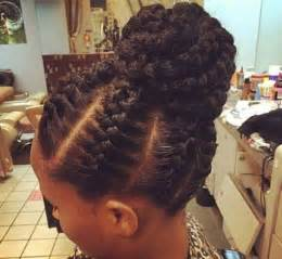 big braids for updo cornrow braids updo hairstyles for african women with big