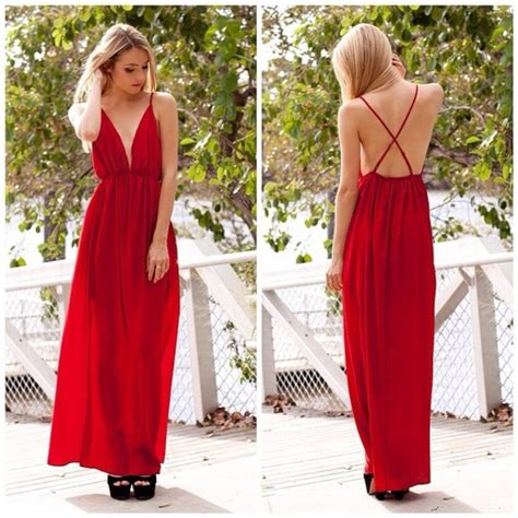 Maxi Dress By Rafif Fashion dress maxi maxi dress backless slit style
