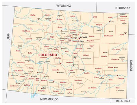 colorado united states map map of colorado