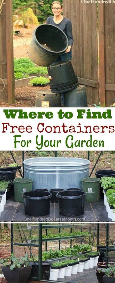 find  containers   garden