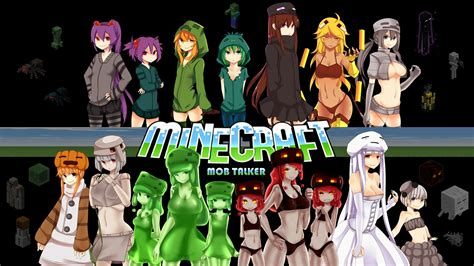 minecraft anime girl wallpaper minecraft creeper spiders zombies enderman blaze skel