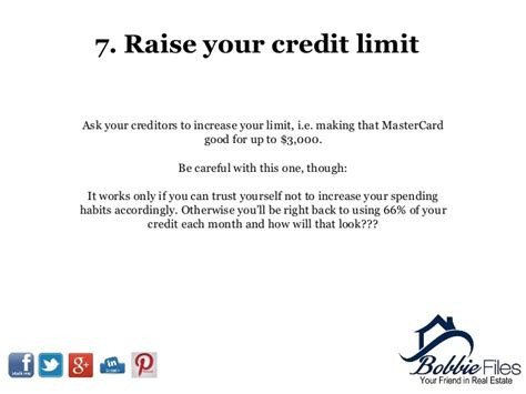 Sle Letter To Raise Credit Limit 11 Tips To Improve Your Credit Score Fast