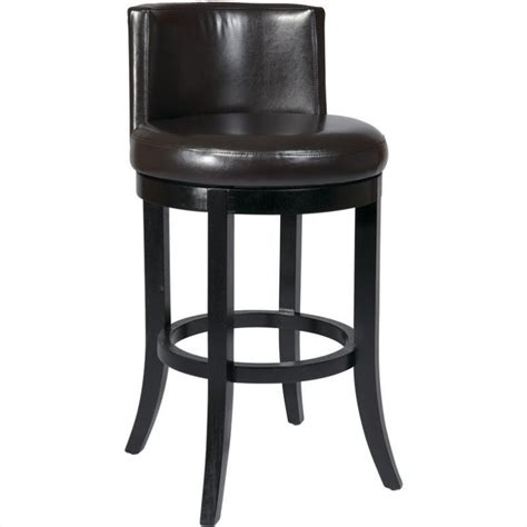 30 leather bar stools 30 quot swivel eco leather bar stool in espresso met21bes