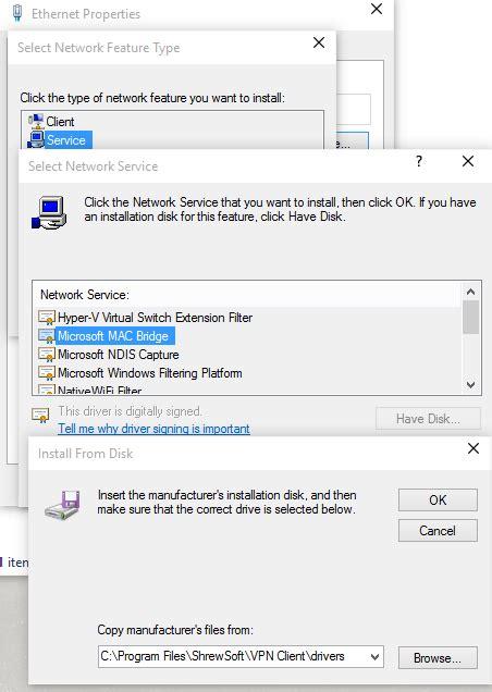install windows 10 network shrewsoft vpn filter blocks traffic on windows 10