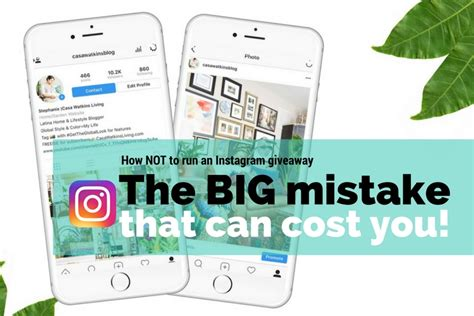 How To Run An Instagram Giveaway - this mistake on your instagram giveaway could cost you casa watkins living