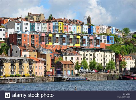 houses to buy in bristol colourful terraced houses overlooking bristol harbour stock photo royalty free image