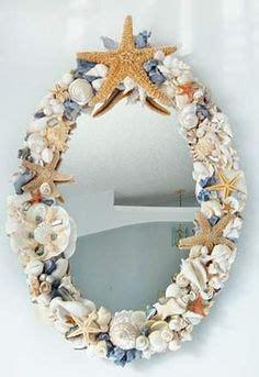 outstanding beachy bathroom diy shell mirror shell espejos on pinterest mirror vintage mirrors and