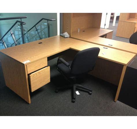 oak l shaped desk oak l shaped desk able auctions