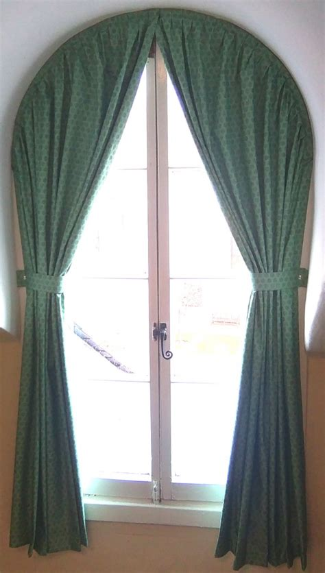 round top window curtains behind closed curtains blog