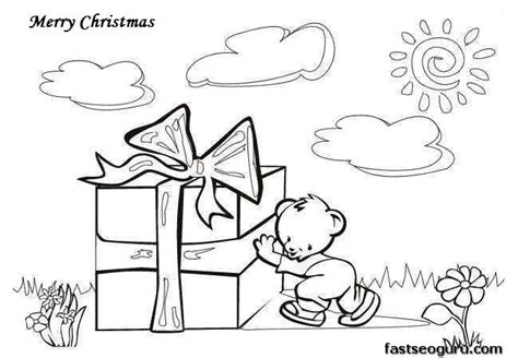 free merry christmas coloring pages