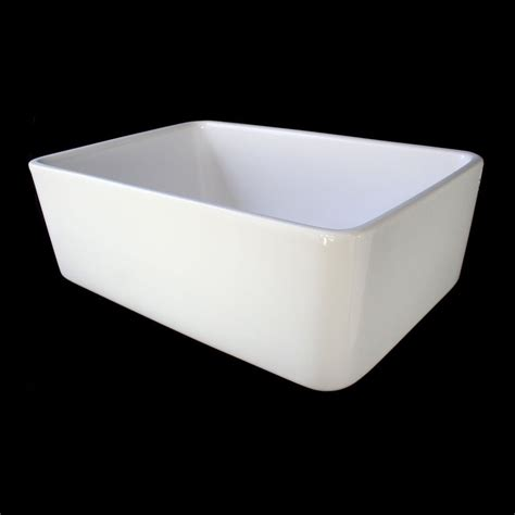 White Single Basin Kitchen Sink Shop Alfi 16 In X 23 5 In White Single Basin Fireclay Apron Front Farmhouse Residential Kitchen